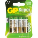 Батарейки GP Super (GP 15A (LR6)-BC4)