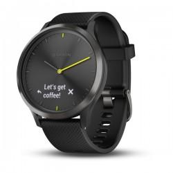 Спортивные часы VIVOMOVE HR черные с черным ремешком